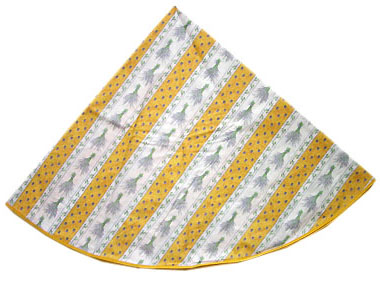 French Round Tablecloth Coated (Lavender 2009. yellow)