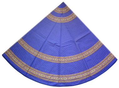 French Round Tablecloth Coated (Ste Lucie. blue)