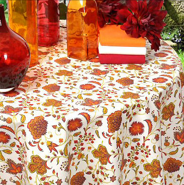 French coated tablecloth (Ajanta. rubis)