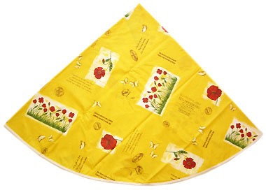 French Round Tablecloth Coated (coquelicot / poppy. yellow)