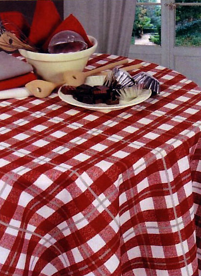 French coated tablecloth (Zinal. bordeaux)