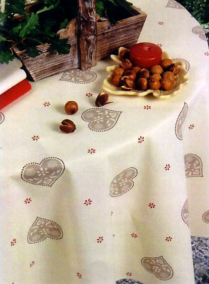 French coated tablecloth (Wangen. taupe)