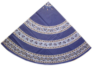 French coated tablecloth (Castellane. camaieu blue)