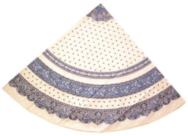 Round Tablecloth Coated (Marat d'Avignon / tradition. whiteblue)