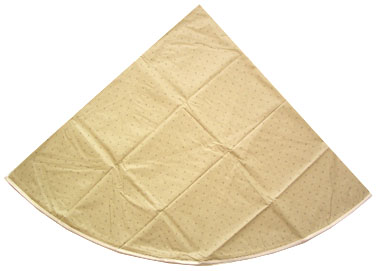 French Round Tablecloth coated (Calissons. beige)