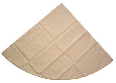 Coated Linen Round Tablecloth (Linen. natural)