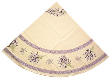 French Round Tablecloth Coated (lavender 2007. raw purple)