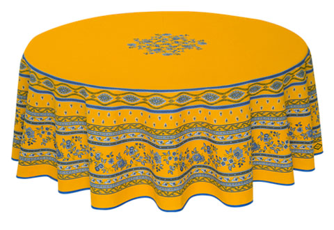 Round Tablecloth Coated (Marat d'Avignon / Avignon. yellow)