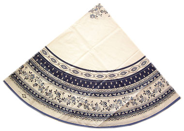 Round Tablecloth Coated (Marat d'Avignon / Avignon. white/blue)