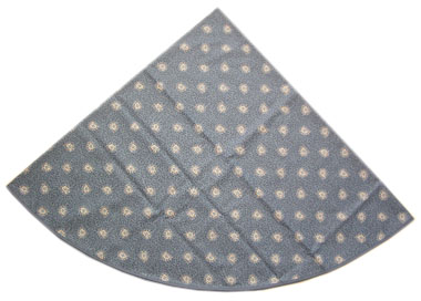 French Round Tablecloth Coated (Garlaban. blue)