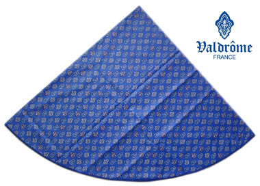 Round Tablecloth Coated (VALDROME / Calisson. blue)
