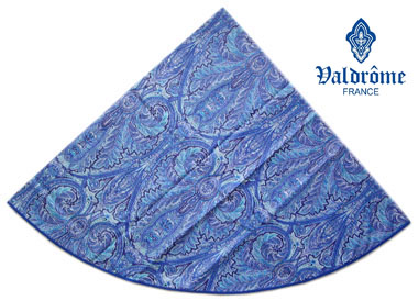 Round Tablecloth Coated (VALDROME / Cachemire. blue)