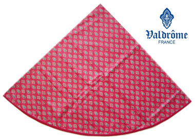 Round Tablecloth Coated (VALDROME / Calisson. grenadine)