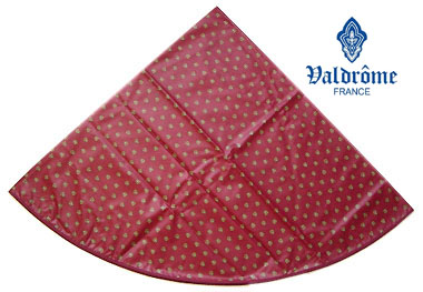 Round Tablecloth Coated (VALDROME / Picoli. red)