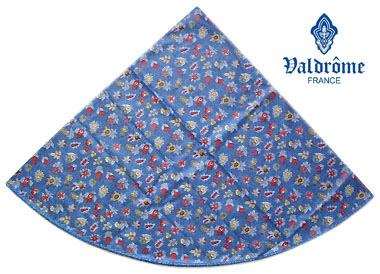 Round Tablecloth Coated (VALDROME / Champetre. blue)