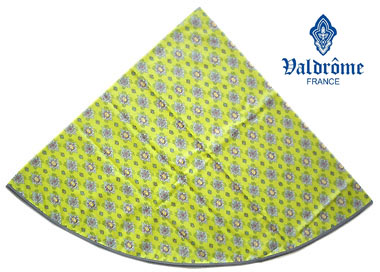Round Tablecloth Coated (VALDROME / Batiste. olive green)