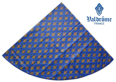 Round Tablecloth Coated (VALDROME / Batiste. blue)