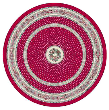 Round Tablecloth Coated (Marat d'Avignon / bastide. red)