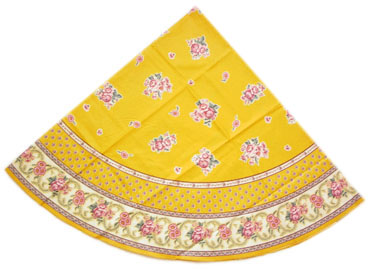 French coated tablecloth (Nais.safran)