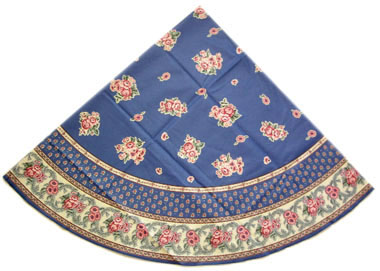 French coated tablecloth (Nais.cobalt)