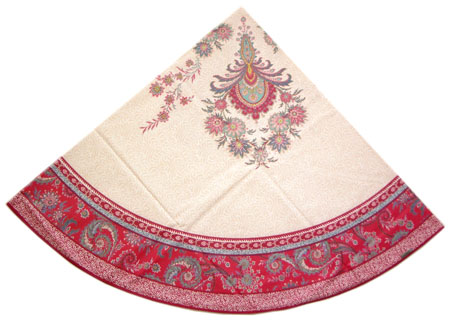 Round Tablecloth Coated (VALDROME / Haveli. framboise)