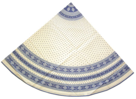 Round Tablecloth Coated (Esterel. raw/blue)