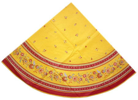 Round Tablecloth Coated (Luberon. yellow/red)