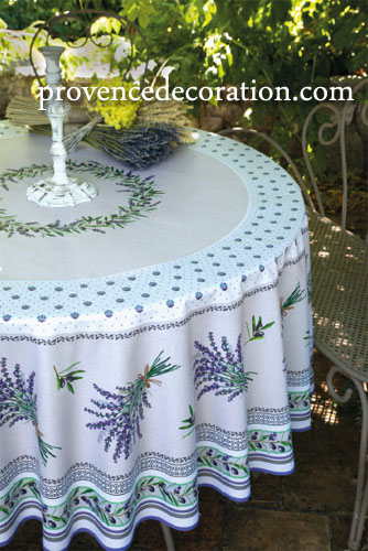 Round Tablecloth Coated (Lauris. raw)