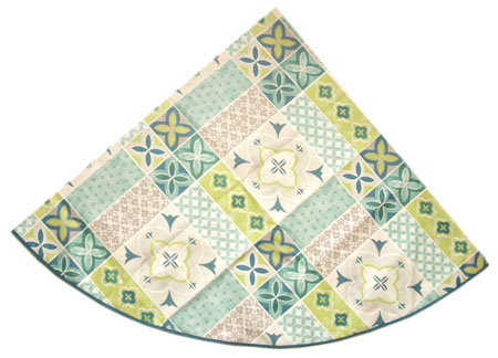 Round Tablecloth Coated (Ciment. water green)