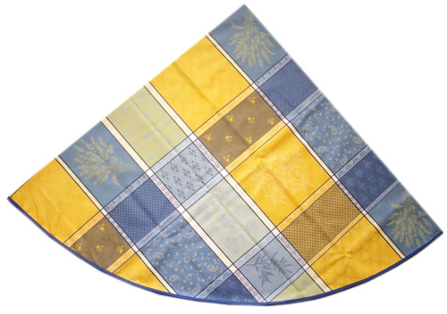 Jacquard tablecloth Coated (Valbonne. yellow/blue)