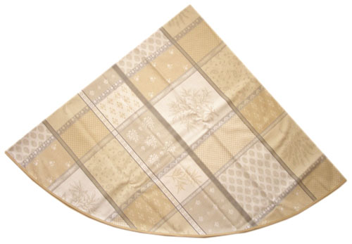 Jacquard tablecloth Coated (Valbonne. raw/beige)