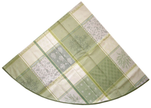 Jacquard tablecloth Coated (Valbonne. raw/green)
