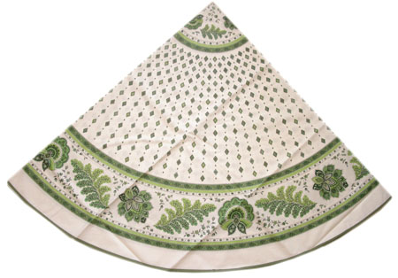 Round Tablecloth Coated (Mirabeau. raw/green)