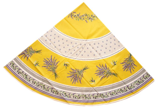 Round Tablecloth Coated (Lauris. yellow)