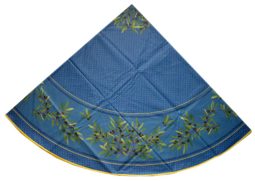 Round Tablecloth Coated (Nyons. blue)