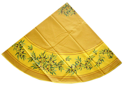 Round Tablecloth Coated (Nyons. yellow)