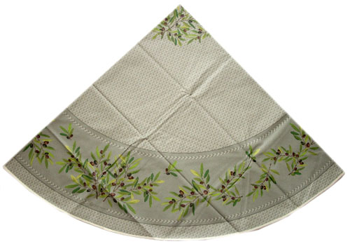 Round Tablecloth Coated (Nyons. grey)