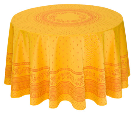 French Jacquard tablecloth Teflon(Marat d'Avignon / Durance Yell