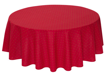 French Round Tablecloth coated (Calissons. bordeaux)