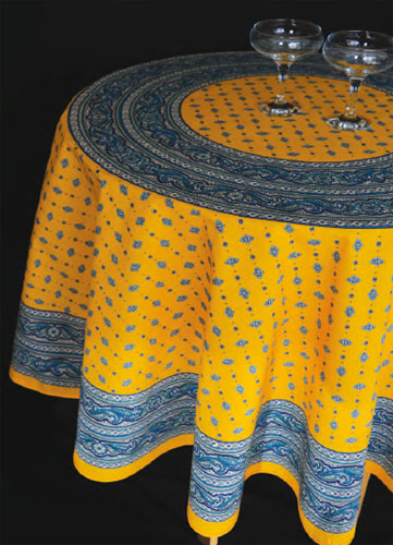 Round Tablecloth Coated (VALDROME / Galon. yellow)