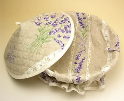 Provencal basket with lid (Lavender 2007. natural)
