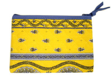 Provence Quilted Pouch PM (Marat d'Avignon / Avignon. yellow)