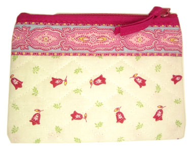 Provence Quilted Pouch PM (Marat d'Avignon / Tradition. rose)