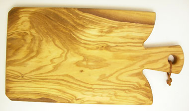 Olive Wood Cutting board with wooden handle (model F MIDIUM)