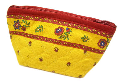 Provencal fabric coin purse (Calissons. yellow x red)