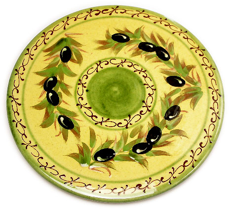 Provence hand made pottery Trivet / Pot Stand (OLIVE)