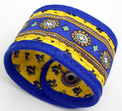 Provencal napkin ring (Lourmarin. yellow x blue)