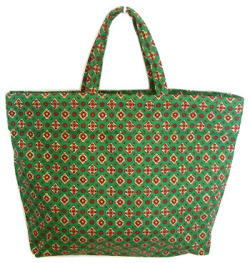 Provence fabric Green bag - Eco bag (Provence patterns. green)