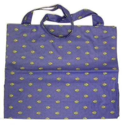 Eco shoulder bag coated (Marat d'Avignon / bastide. lavender blu