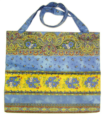 Eco shoulder bag coated (Marat d'Avignon / tradition. blue)